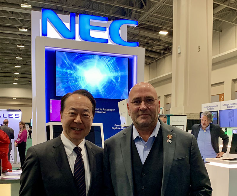 Shin Takahashi, Chairman of the Board and Head of Government Relations, NEC Corporation of America, US with Congressman Clay HIggins, representing the 3rd District of Louisiana